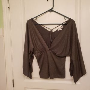 Moa Moa Women's Silvery Brown Top Size M